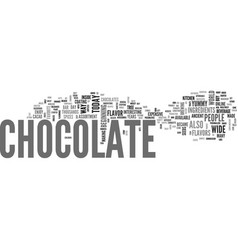 A brief history of chocolate text word cloud vector