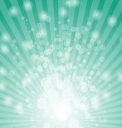 Abstract bokeh on green background vector image