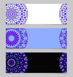 Abstract horizontal floral mandala banner vector
