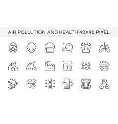 Air pollution icon vector