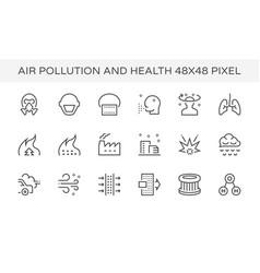 Air pollution icon vector