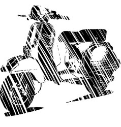 an italian scooter vector image