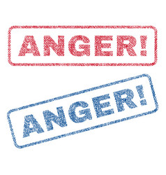 Anger exclamation textile stamps vector