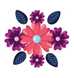 Arrangement floral flowers vector