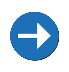 arrow points to the right back arrow icon vector image