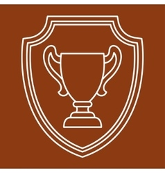 Award cup sport or business background in line vector