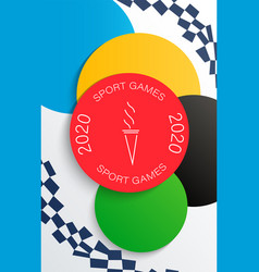 banner for 2020 games in japan vector image