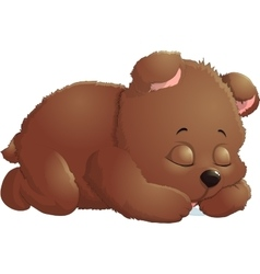 Bear in beautiful pose vector image