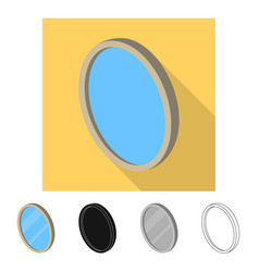 Bedroom and room icon set vector