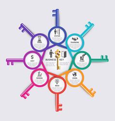 Business key concept infographics design template vector