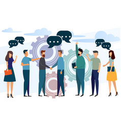 Business partnership and leader businessmen vector