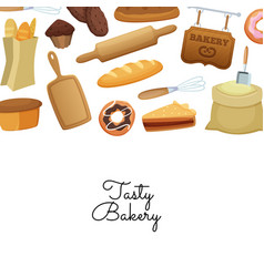 cartoon bakery background web vector image