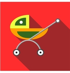 Children s toy pram on a red background vector image