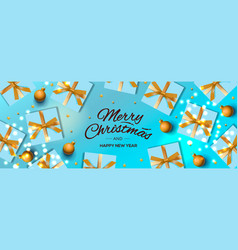christmas banner holiday horizontal background vector image