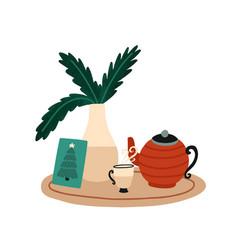 christmas breakfast and tea vector image
