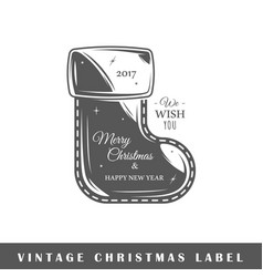 christmas label vector image