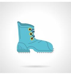 Climbing boot flat icon vector