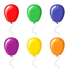 Color balloons set vector