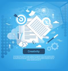 creativity idea development concept web banner vector image