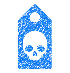 Death coupon grunge icon vector