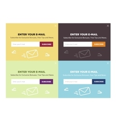 Design of the website form for email subscribe vector
