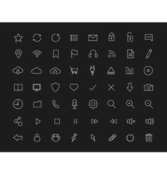 Digital linear icons set Black vector image