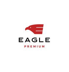 eagle e letter logo evctor icon vector image