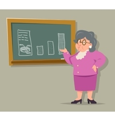 Education Blackboard Old Female Teacher Granny vector image