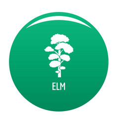elm tree icon green vector image
