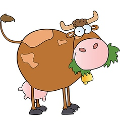 Farm dairy cow cartoon character vector
