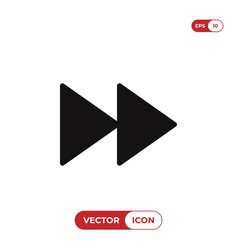 fast forward icon vector image