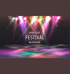 festival show light dance floor banner vector image