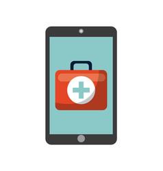 first aid briefcase icon vector image vector image