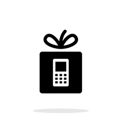 Gift phone icon on white background vector image