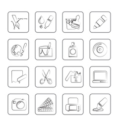 Graphic and web design icons vector image