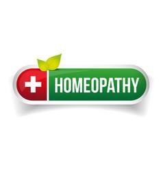 Homeopathy alternative medicine logo vector