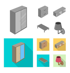 Isolated object of bedroom and room logo vector