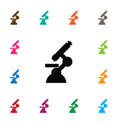 Isolated optical instrument icon biotechnology vector
