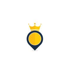 King point logo icon design vector