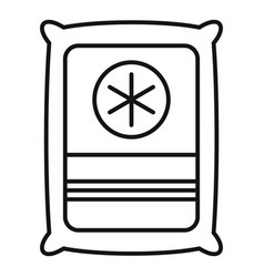 Medical sterile package icon outline style vector