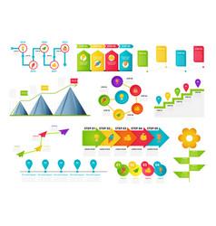 milestone timeline templates set vector image