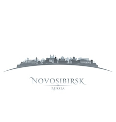Novosibirsk Russia city skyline silhouette vector image
