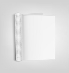 open blank paper journal with clear page vector image