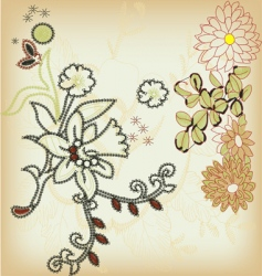 ornamental flower vector image