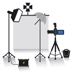 Photo studio equipment vector