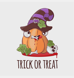 Robber pumpkin halloween funny cartoon vector
