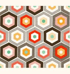 seamless cute geometric hexagonal textured print vector image