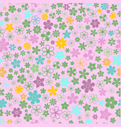 Seamless pattern of small flowers vector