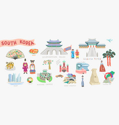 set doodle flat south vector image