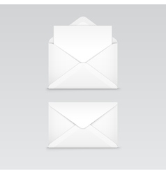 Set of White Blank Envelope Isolated vector image